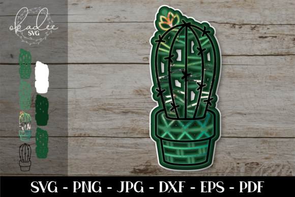 Download Free 3d Cactus Mandala 3d Cactus Graphic By Okadee Svg Creative for Cricut Explore, Silhouette and other cutting machines.