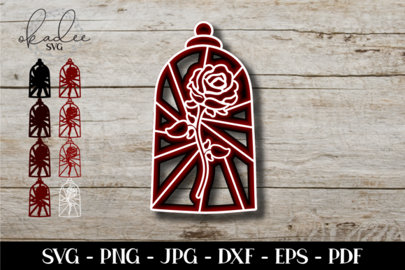Download Free 3d Enchanted Rose Mandala Rose Graphic By Okadee Svg Creative for Cricut Explore, Silhouette and other cutting machines.