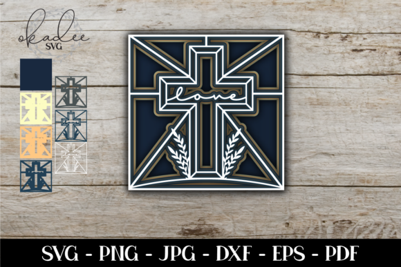 Download Free 3d Layered Cross 7 Layer Paper Cut Graphic By Okadee Svg for Cricut Explore, Silhouette and other cutting machines.