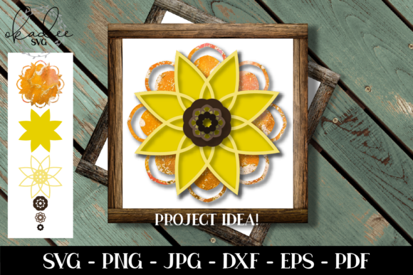 Download Free 3d Sunflower Mandala Sunflower Graphic By Okadee Svg Creative for Cricut Explore, Silhouette and other cutting machines.