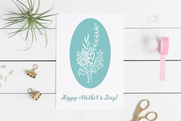 Download Free 4 Mother S Day Cards With Flowers Graphic By Reddotshouse for Cricut Explore, Silhouette and other cutting machines.