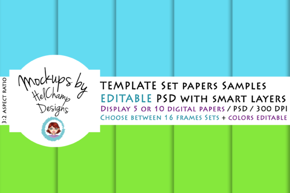 Download Free 5 Or 10 Panels Mockup For Digital Papers Graphic By Helchamp for Cricut Explore, Silhouette and other cutting machines.