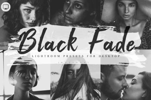 Print on Demand: 6 Lightroom Presets Black Fade Theme Graphic Actions & Presets By 3Motional