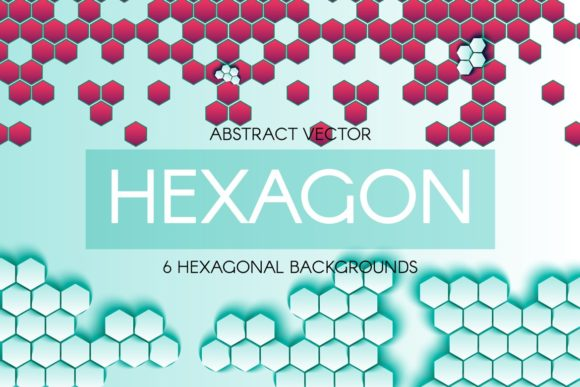 Print on Demand: Abstract Hexagonal Backgrounds Graphic Textures By barsrsind