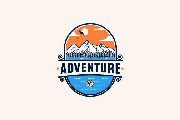 Download Free Adventure Vintage Logo Design Graphic By Burhan Bn006 Creative for Cricut Explore, Silhouette and other cutting machines.