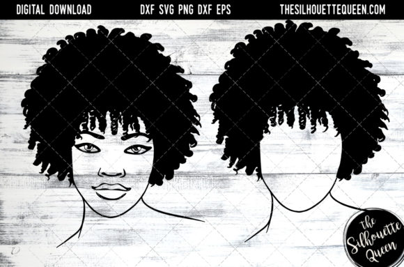 Afro Hair - Natural Coily Curls Graphic Crafts By thesilhouettequeenshop