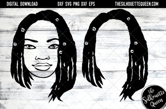 Afro Hair - Short Bob Box Braid , Beaded Graphic Crafts By thesilhouettequeenshop