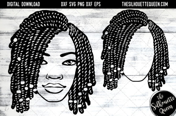 Download Free Afro Hair Short Bob Twist Braids Graphic By for Cricut Explore, Silhouette and other cutting machines.