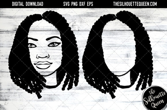Afro Hair - Short Box Braid Bob Graphic Crafts By thesilhouettequeenshop