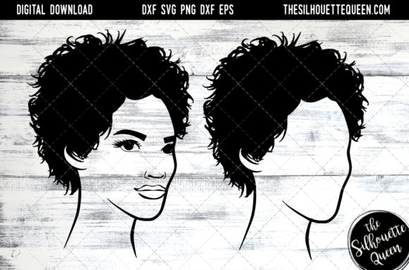 Afro Hair – Short Curly Pixie SVG Cut Files