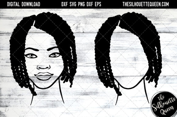 Afro Hair - Short Nubian Twist Graphic Crafts By thesilhouettequeenshop