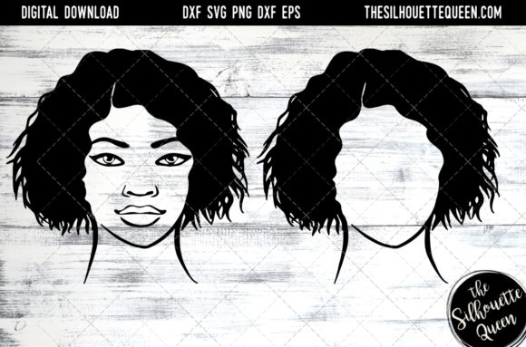 Afro Hair - Short Wet Wavy Curly Graphic Crafts By thesilhouettequeenshop