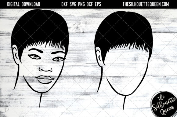 Download Free Afro Hair Short And Layered Staright Graphic By for Cricut Explore, Silhouette and other cutting machines.