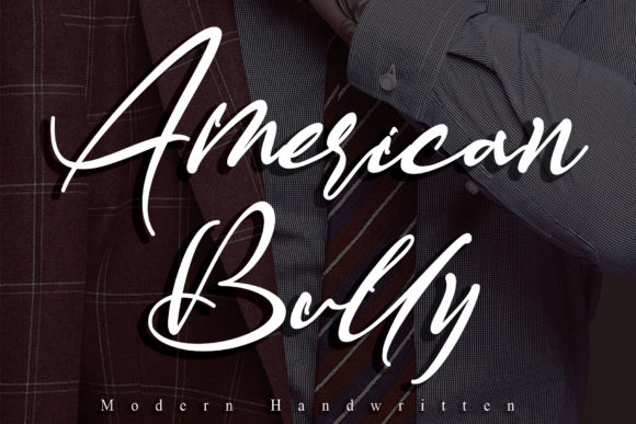 Print on Demand: American Bully Script & Handwritten Font By thomasaradea