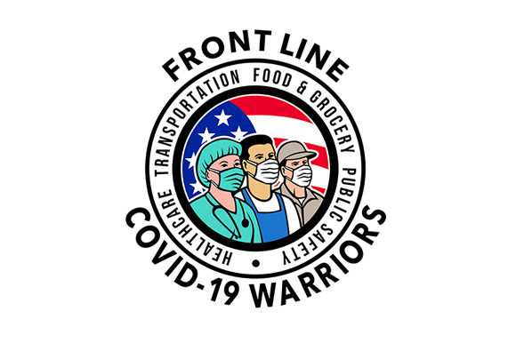Download Free American Front Line Covid 19 Warriors Graphic By Patrimonio for Cricut Explore, Silhouette and other cutting machines.