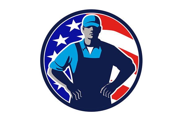 Download Free American Organic Farmer Usa Flag Mascot Graphic By Patrimonio for Cricut Explore, Silhouette and other cutting machines.