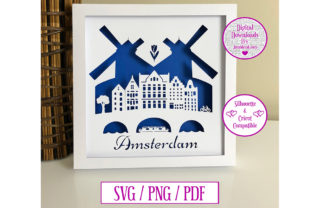 Download Free Amsterdam Paper Cut Digital Download Graphic By Jumbleink for Cricut Explore, Silhouette and other cutting machines.