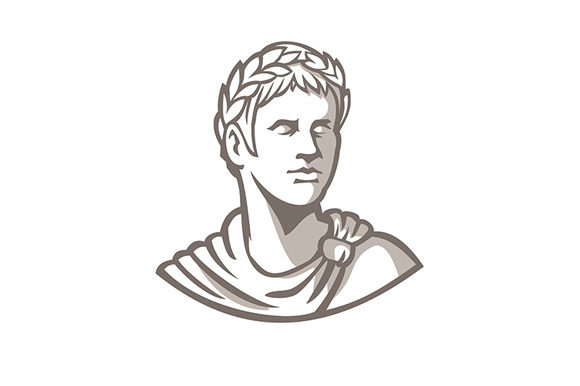 Download Free Ancient Roman Emperor Bust Mascot Graphic By Patrimonio Creative Fabrica for Cricut Explore, Silhouette and other cutting machines.