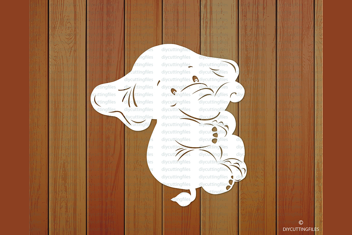 Download Free Baby Elephant Paper Cut Template Graphic By Diycuttingfiles for Cricut Explore, Silhouette and other cutting machines.