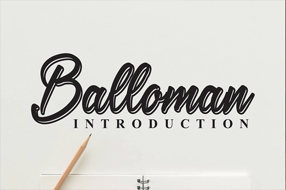 Print on Demand: Balloman Manuscrita Fuente Por andikastudio