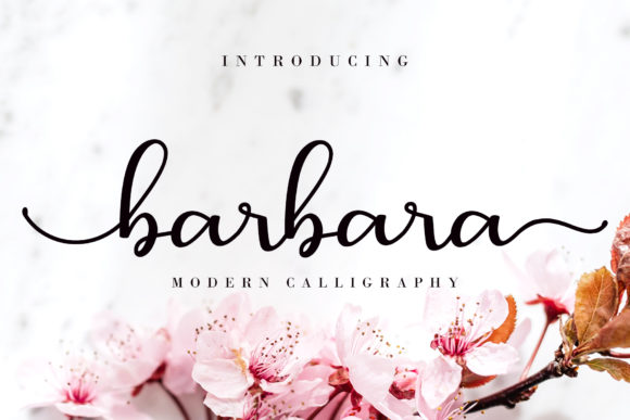 Print on Demand: Barbara  Script & Handwritten Font By AEN Creative Studio