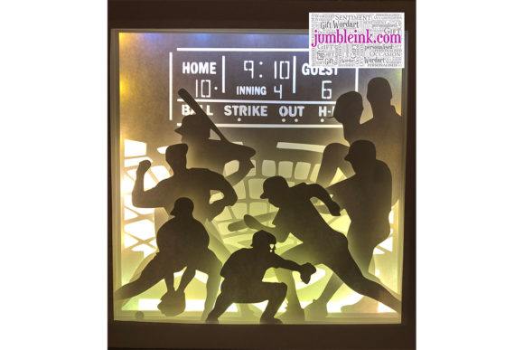 Baseball 3D Paper Cut Light Box Graphic 3D Shadow Box By Jumbleink Digital Downloads