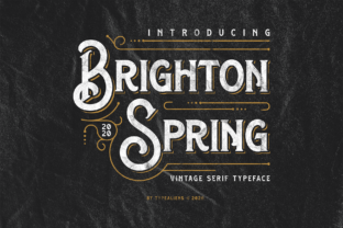 Print on Demand: Brighton Spring Serif Font By typealiens