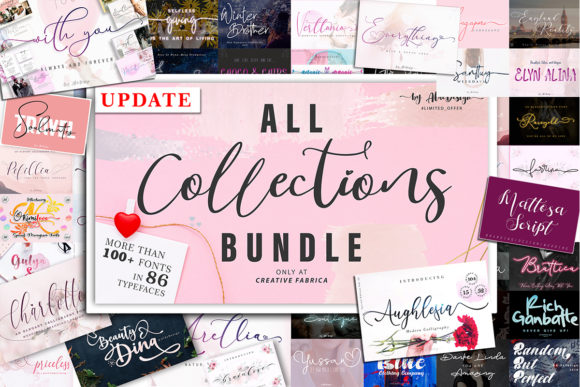 Print on Demand: All Collections - Font Bundle  By aldedesign