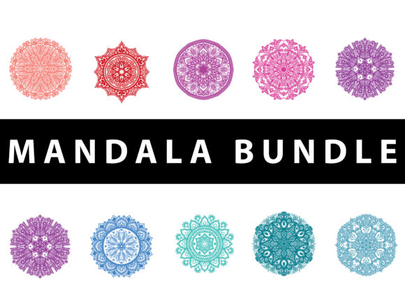 Download Free Bundle Mandala Vector Graphic By Redsugardesign Creative Fabrica for Cricut Explore, Silhouette and other cutting machines.