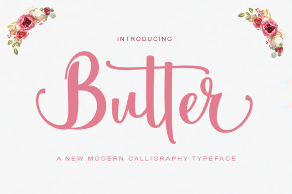 Print on Demand: Butter Script & Handwritten Font By parawtype