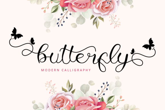 Print on Demand: Butterfly Script & Handwritten Font By illushvara