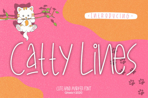 Print on Demand: CattyLines Script & Handwritten Font By AwesomeGraphic