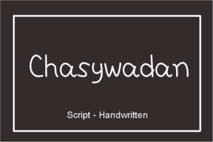 Print on Demand: Chasywadan Script & Handwritten Font By nuraisyahamalia1729