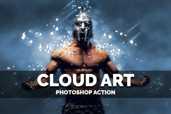 Download Free Cloud Art Photoshop Action Graphic By Jubair Haider Creative for Cricut Explore, Silhouette and other cutting machines.