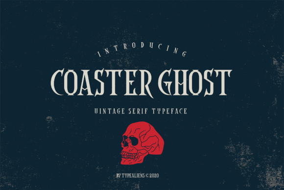 Print on Demand: Coaster Ghost Serif Font By typealiens