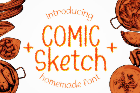 Print on Demand: Comic Sketch Display Font By numnim