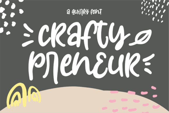 Print on Demand: Craftypreneur Display Font By Azetype