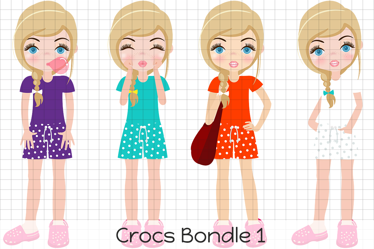 Download Free Crocks Blonde 1 Graphic By Dolls To Go Creative Fabrica for Cricut Explore, Silhouette and other cutting machines.