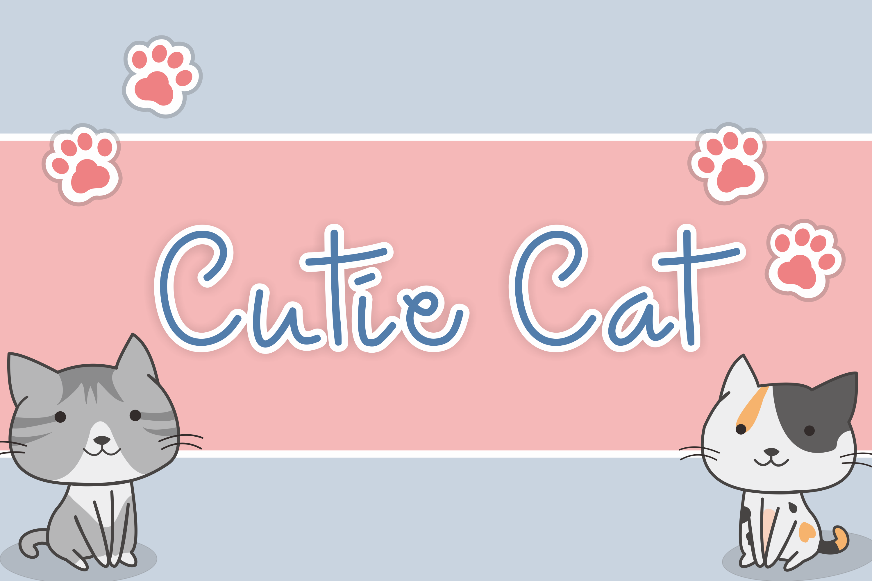 Download Free Cutie Cat Font By Nuraisyahamalia1729 Creative Fabrica for Cricut Explore, Silhouette and other cutting machines.