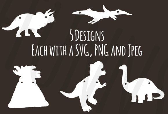 Print on Demand: Dinosaur Banner / Party Decor Cricut Graphic 3D SVG By SomeFinnGraphics