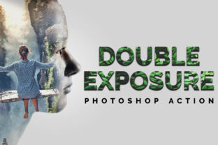 Double Exposure Photoshop Action Graphic Actions & Presets By Creative Creator