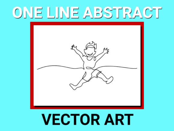 Print on Demand: Drawing Happy Boy Jumping Vector (3) Graphic Illustrations By anrasoft