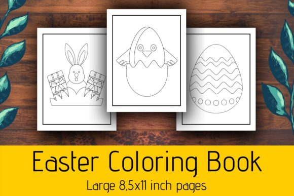 Print on Demand: Easter Coloring Pages for Kids KDP Graphic Coloring Pages & Books Kids By atlasart