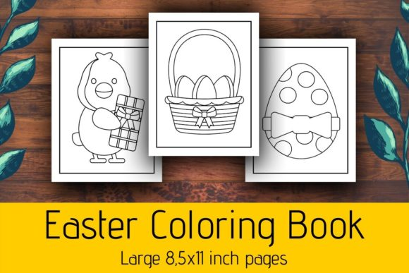 Download Free Easter Coloring Pages For Kids Kdp Graphic By Atlasart for Cricut Explore, Silhouette and other cutting machines.