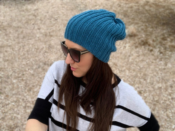 Easy Knit Beanies Duo Knitting Patterns Graphic Knitting Patterns By Knit and Crochet Ever After - Image 1