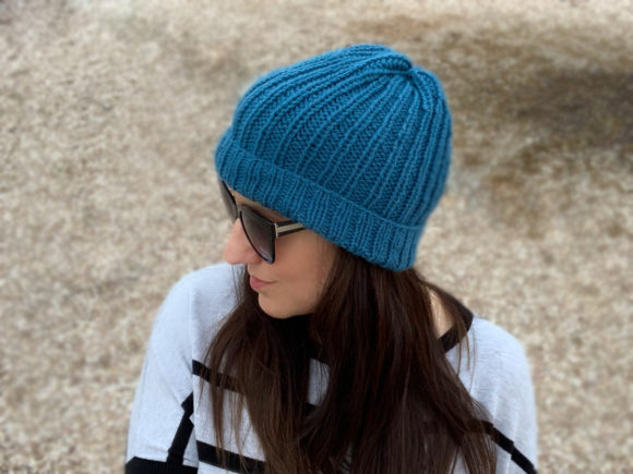 Easy Knit Beanies Duo Knitting Patterns Graphic Item