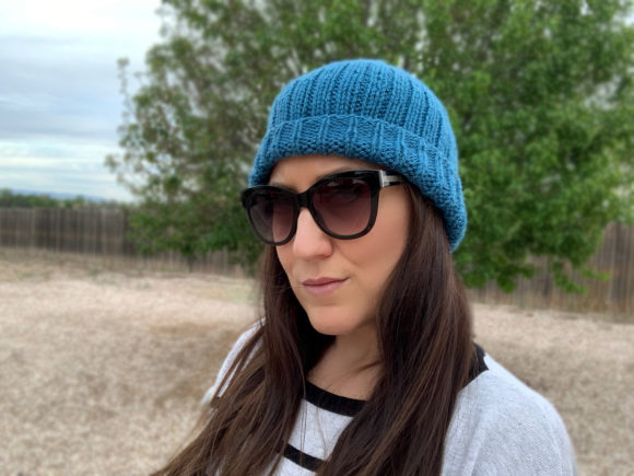 Easy Knit Beanies Duo Knitting Patterns Graphic Image