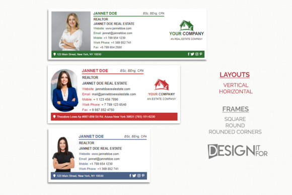 Download Free Email Signature Template For Realtor Graphic By Designitfor for Cricut Explore, Silhouette and other cutting machines.