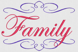 Family Awareness & Inspiration Embroidery Design By Alpine Mastiff Designs