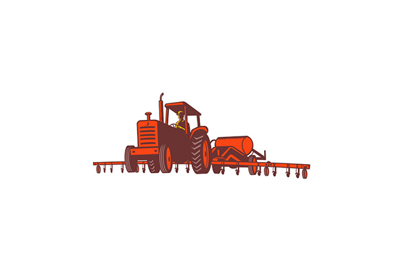 Download Free Farm Tractor Pulling Nitrogen Tank Retro Graphic By Patrimonio for Cricut Explore, Silhouette and other cutting machines.